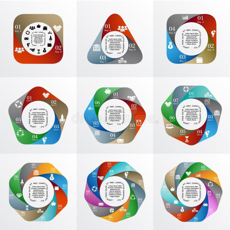 Infographic géométrique de vecteur photo stock