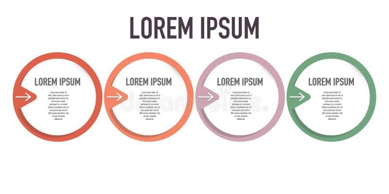 Infographic gadka wystawia różnorodnych kroki dla osiągnięcia ilustracja wektor