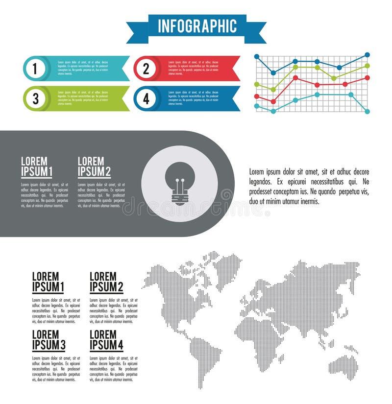 Infographic gehele wereld stock illustratie