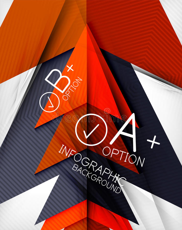 Infographic geometrical shape abstract background stock illustration