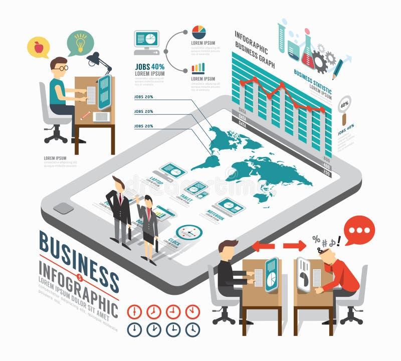 Infographic-Geschäfts-Schablonendesign isometrischer Konzeptvektor