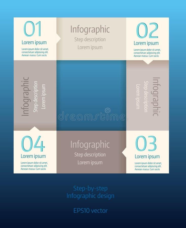 Infographic Geschäftsdiagramm des Schrittes stock abbildung