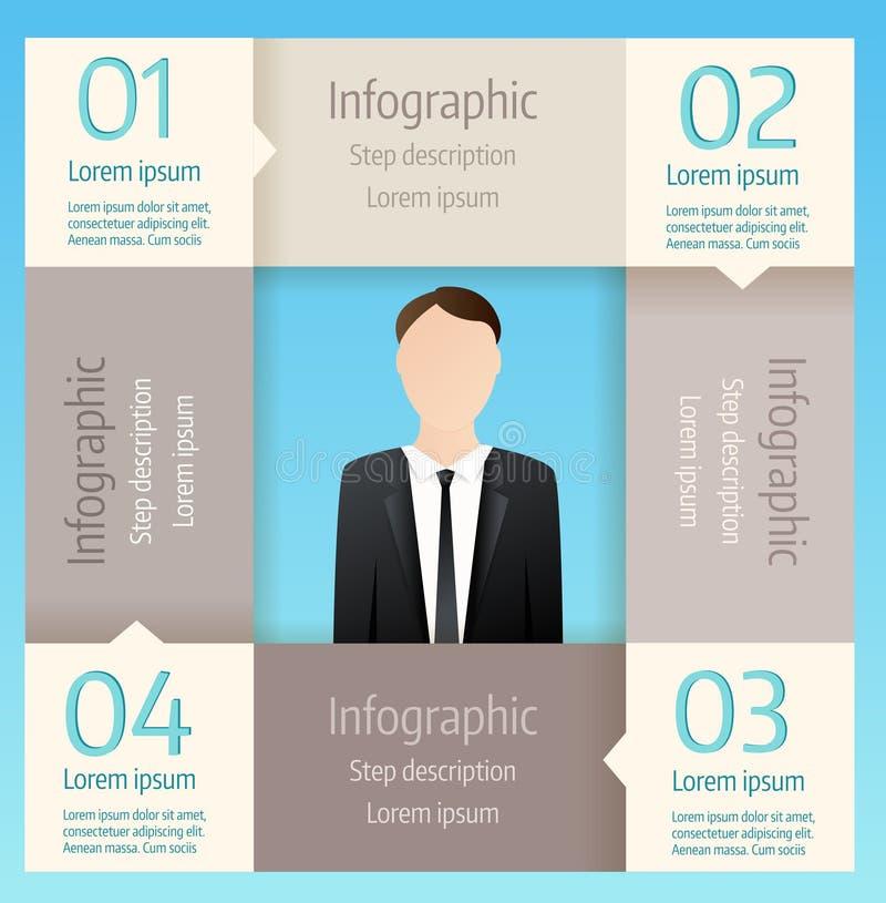 Infographic Geschäftsdiagramm des Schrittes vektor abbildung