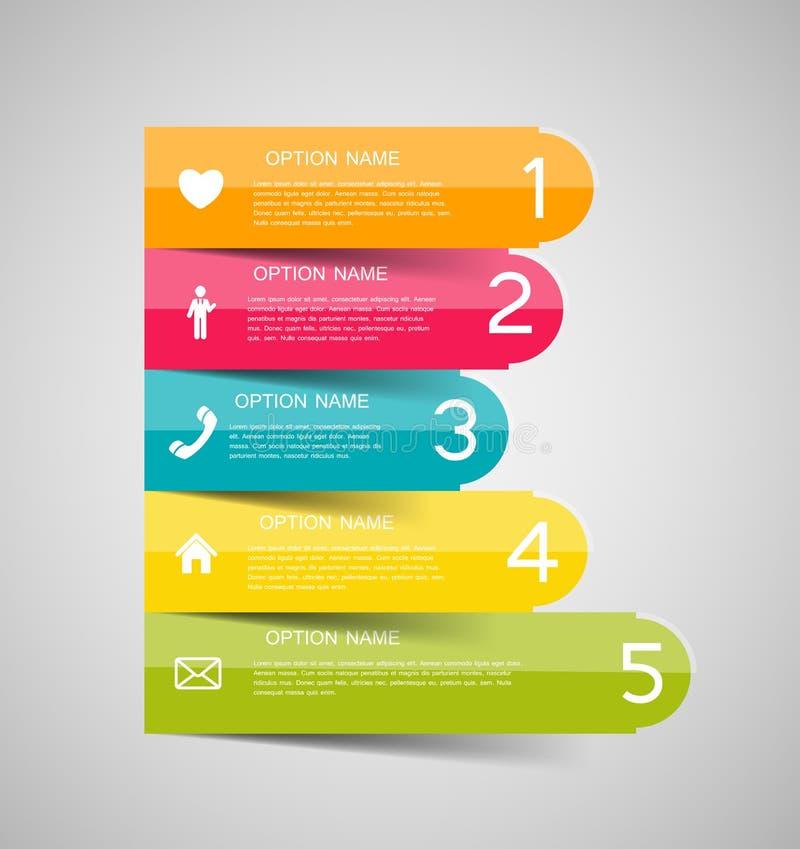 Infographic-Geschäftsschablonen-Vektorillustration lizenzfreie abbildung