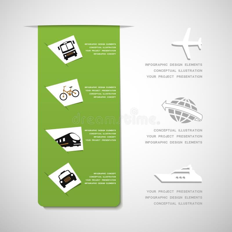 Infographic Gestaltungselemente des Transportes lizenzfreie abbildung