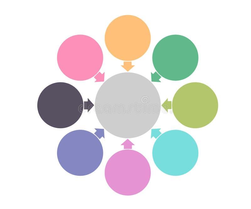 Infographic-Gestaltungselemente für Ihre kommerziellen Daten mit Teilen, Schritten, Zeitachsen oder Prozessen, rundes Konzept des lizenzfreie abbildung
