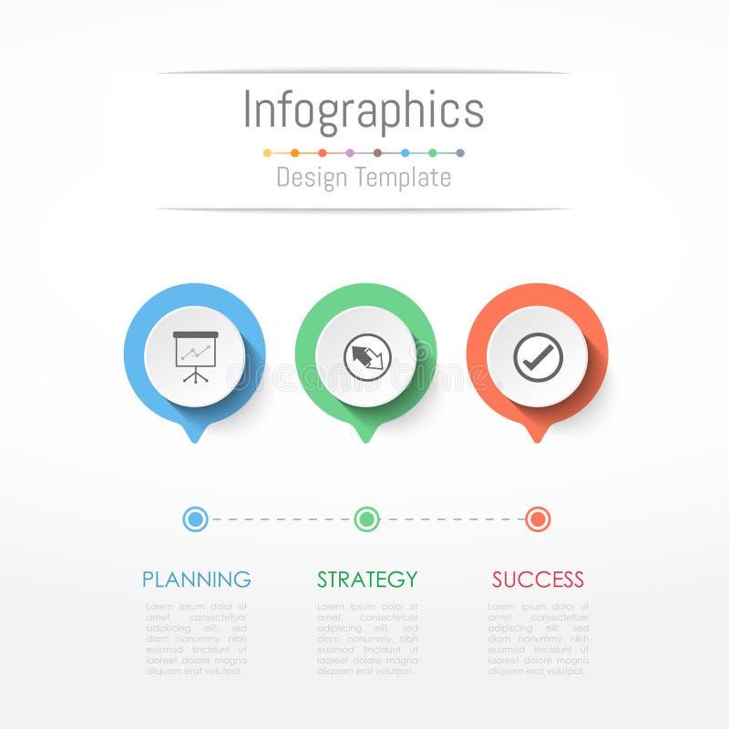 Infographic-Gestaltungselemente für Ihre kommerziellen Daten mit 3 Wahlen vektor abbildung