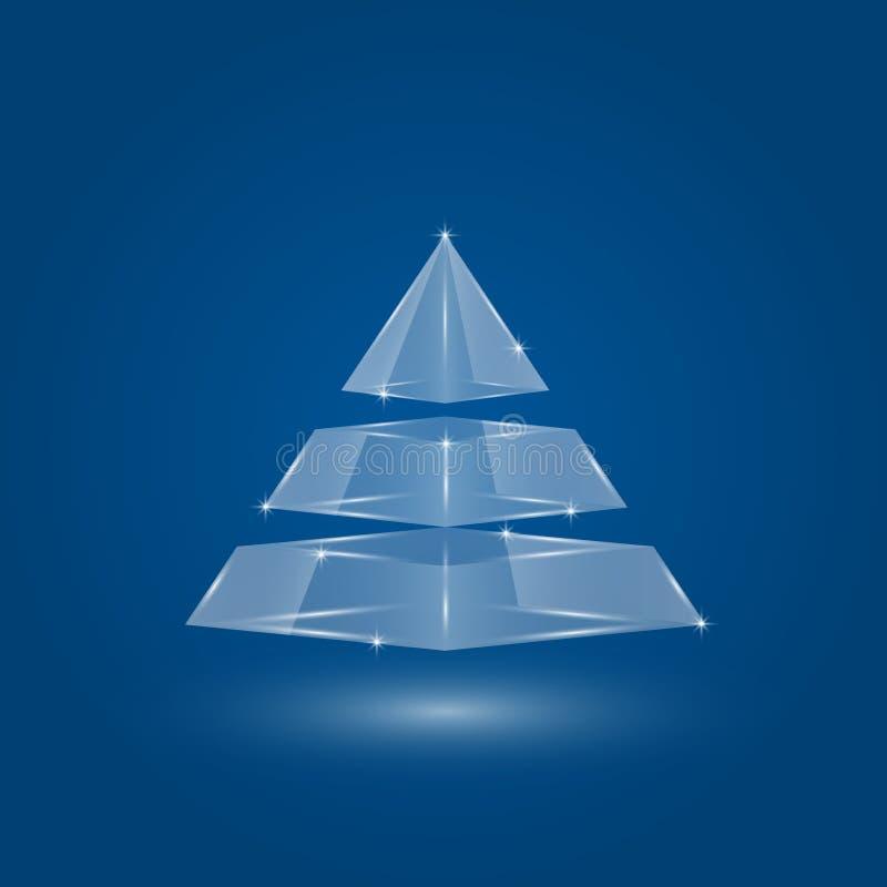 Infographic Glass pyramid vektor illustrationer