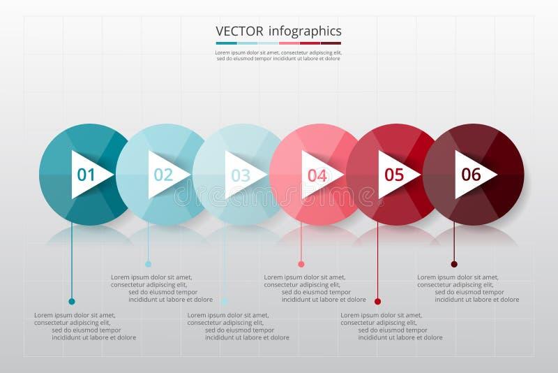 Infographic gradual ilustración del vector