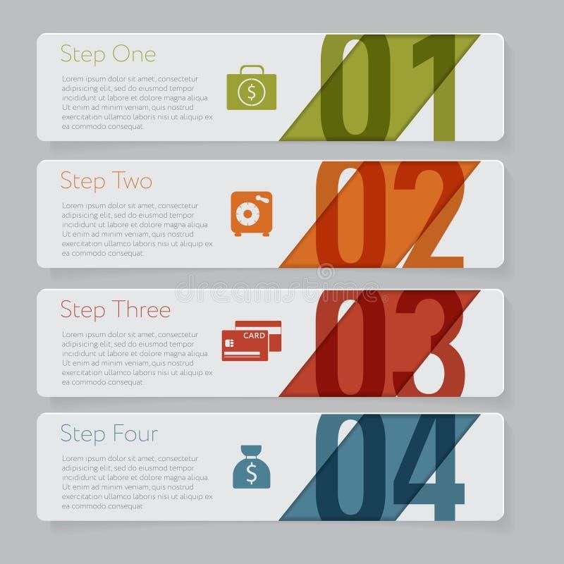 Infographic Grafisch de bannersmalplaatje van het ontwerpaantal of websitelay-out stock illustratie