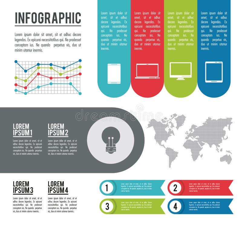 Infographic hel värld vektor illustrationer