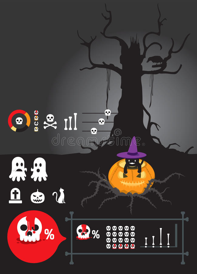 Infographic helloween   vektor illustrationer