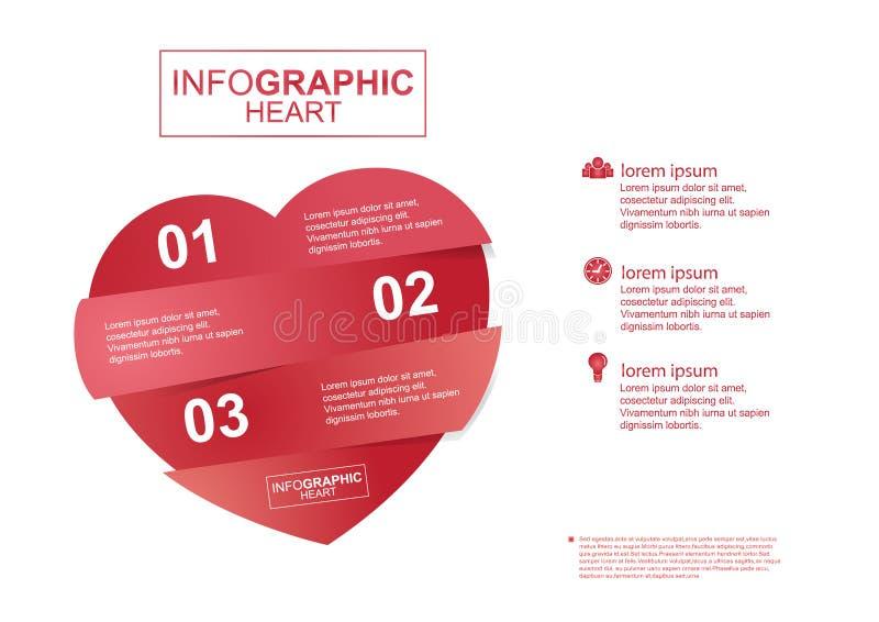 Infographic Herzvektor des Geschäfts lizenzfreie abbildung