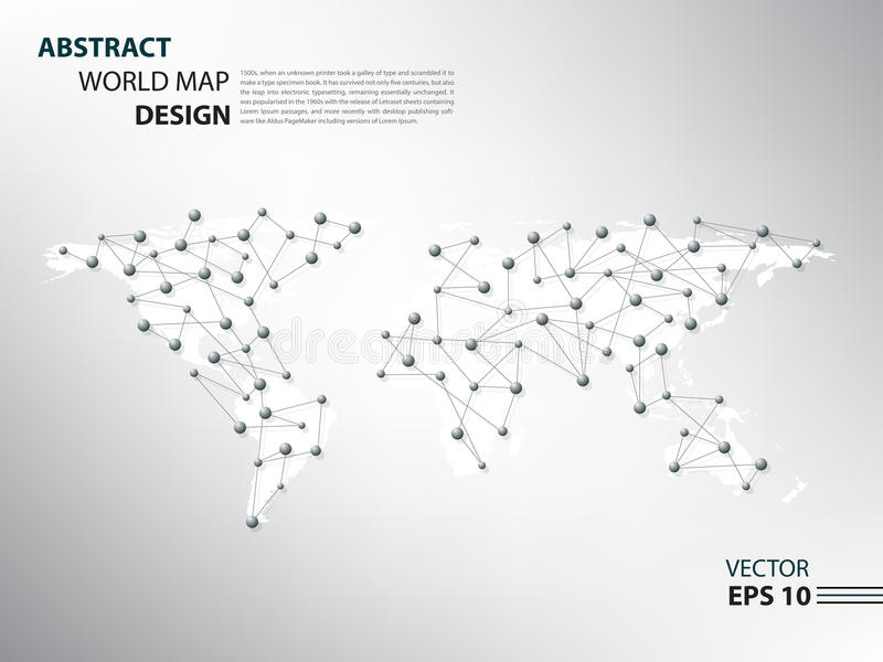 Infographic het netwerk van de Worldmapspin stock foto's
