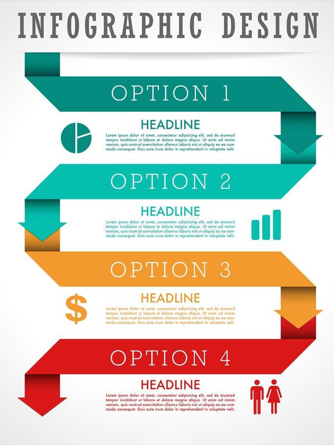 Infographic Hintergrund lizenzfreie abbildung