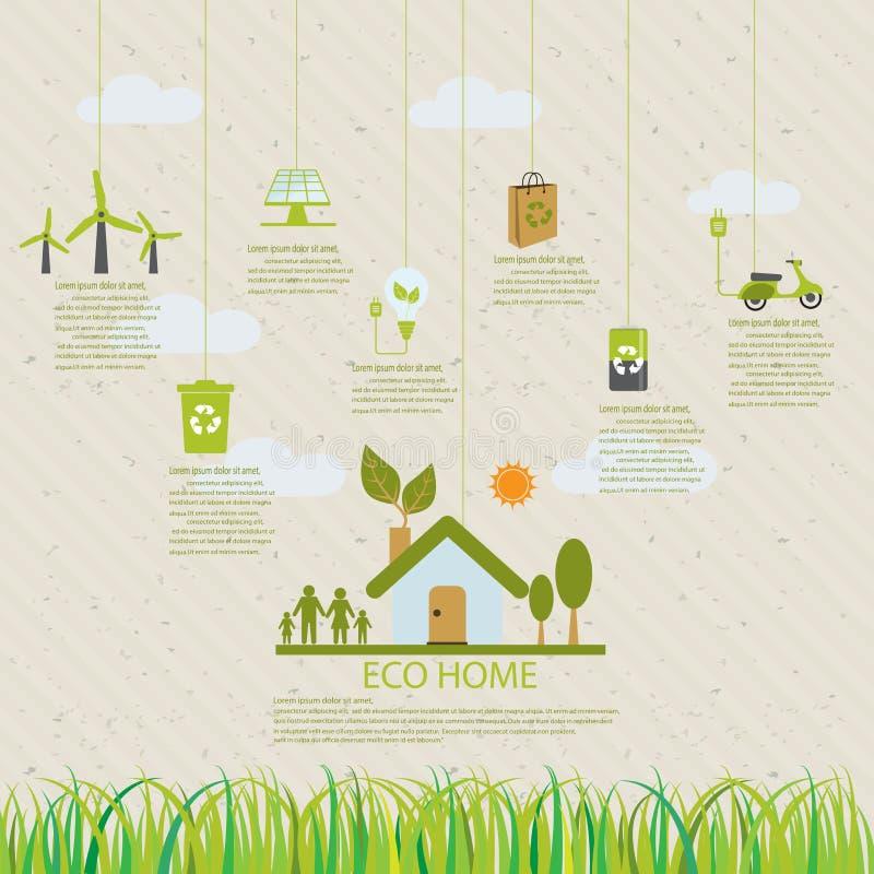 Infographic huiseco stock illustratie