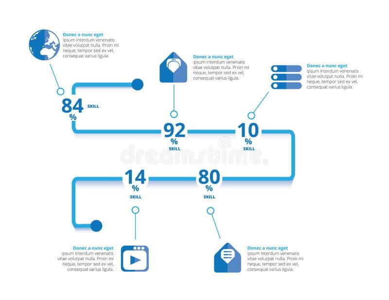 infographic i lager separat vektor för elementmapp stock illustrationer