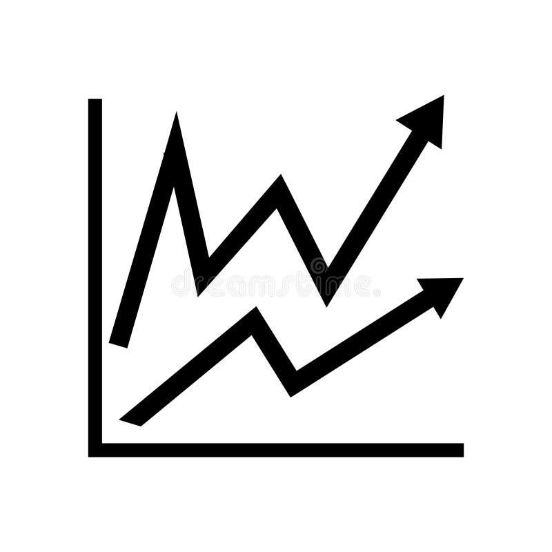 Infographic Icono de la carta Símbolo cada vez mayor del gráfico ilustración del vector