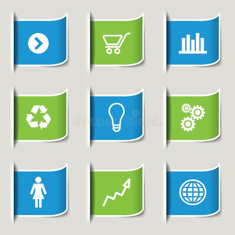 Infographic Ikonen des Geschäfts lizenzfreie abbildung