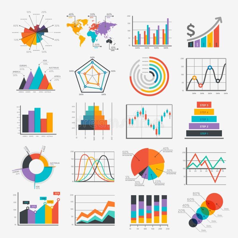 Infographic Ikonen des Geschäfts vektor abbildung