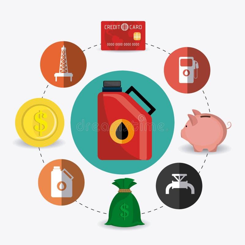 Infographic industric de pétrole et de pétrole illustration libre de droits