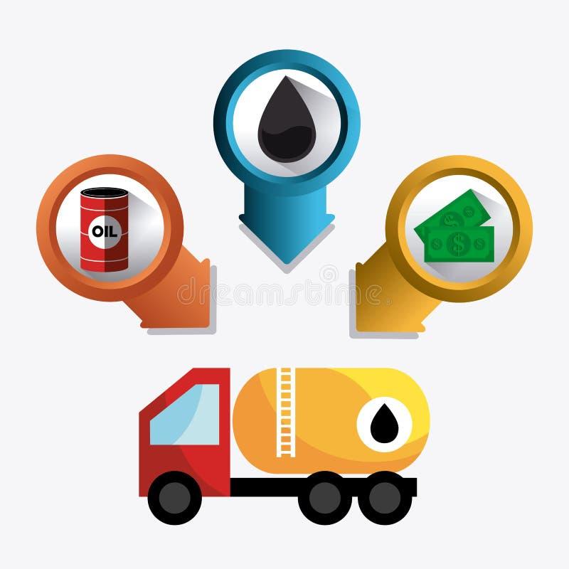 Infographic industric de pétrole et de pétrole illustration stock