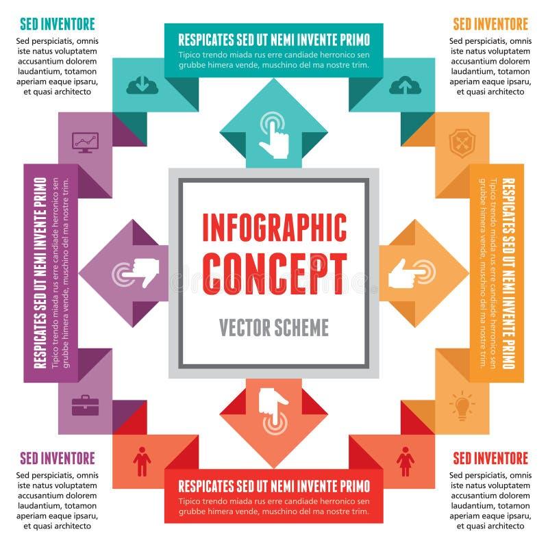 Infographic-Konzept - abstrakter Vektor-Entwurf