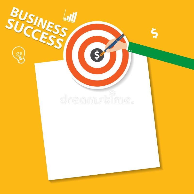 Infographic Konzept der flachen modernen Vektor-Illustration des Designs der digitalen Marketing-Werbekonzeption, Erfolg lizenzfreie abbildung