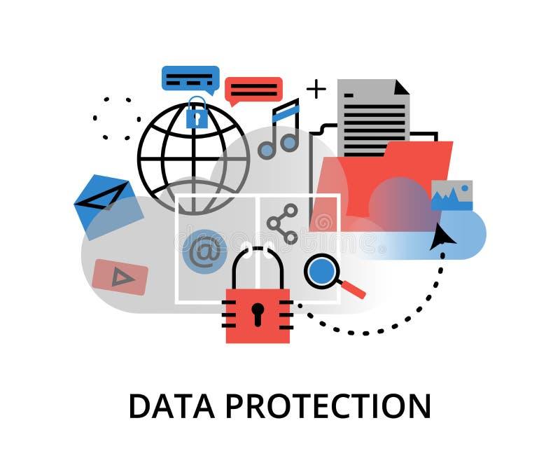 Infographic-Konzept der Internet-Sicherheit, Netzschutz und stock abbildung