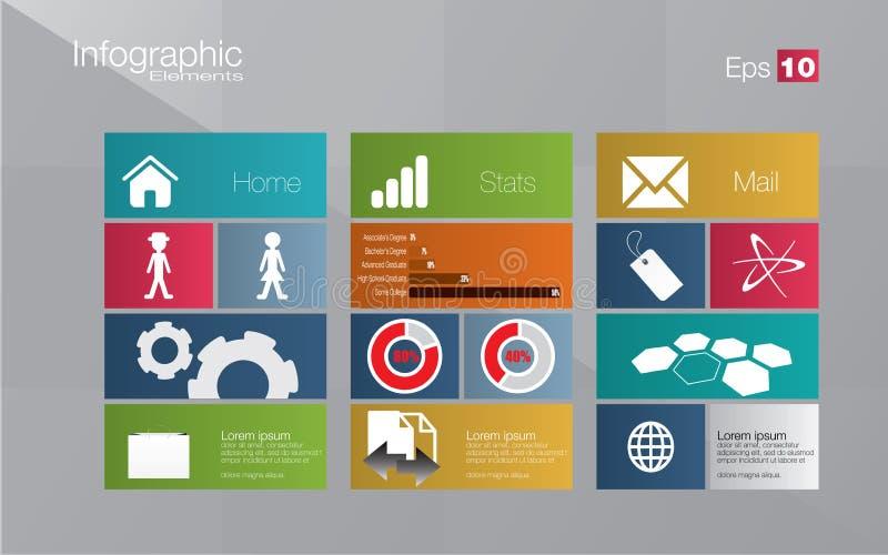 Infographic Konzept der Metroart stock abbildung