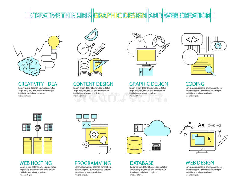 Infographic-Konzept des Entwurfes kreatives Conc vektor abbildung