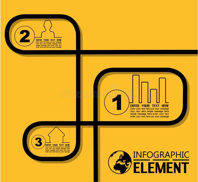Infographic kreskowego stylu prosty szablon z krokami rozdziela opcje ilustracja wektor