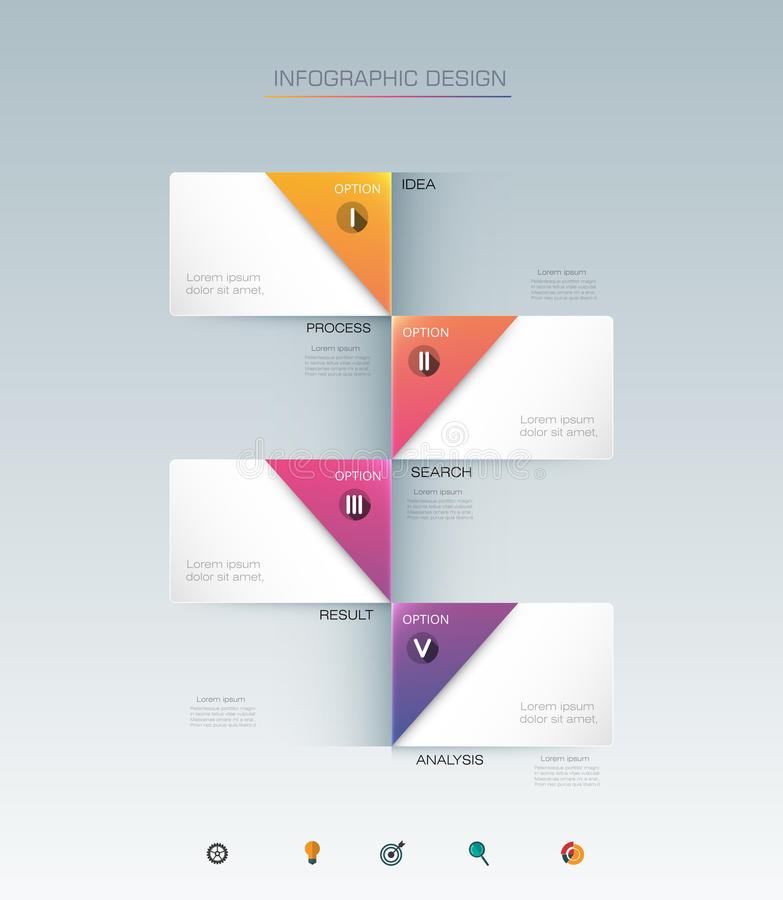 Infographic label design with icons and 4 options or steps. Vector Infographic label design with icons and 4 options or steps. Infographics for business concept vector illustration