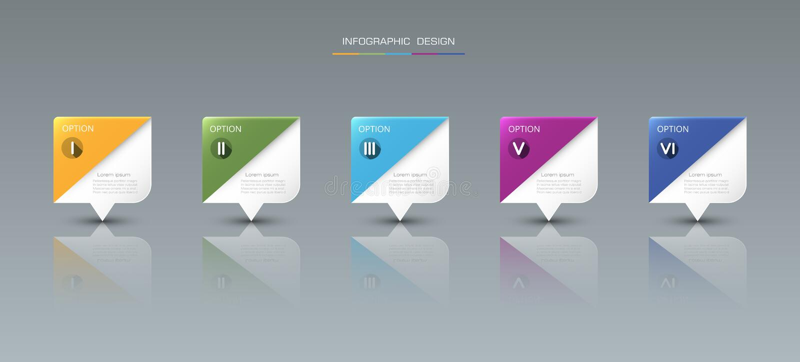 Infographic label design with icons and 5 options. Vector Infographic label design with icons and 5 options or steps. Infographics for business concept. Can be vector illustration