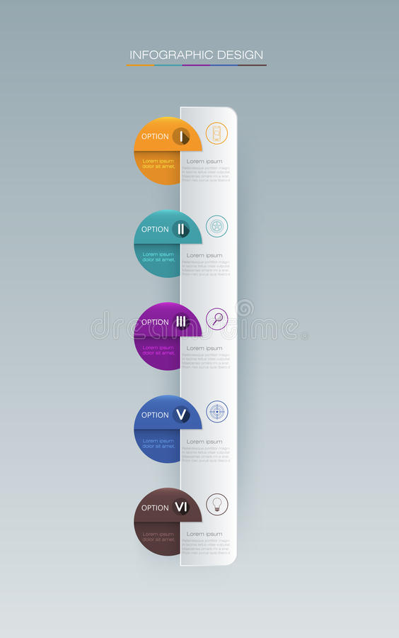Infographic label design with icons and 5 options. Vector Infographic label design with icons and 5 options or steps. Infographics for business concept. Can be royalty free illustration