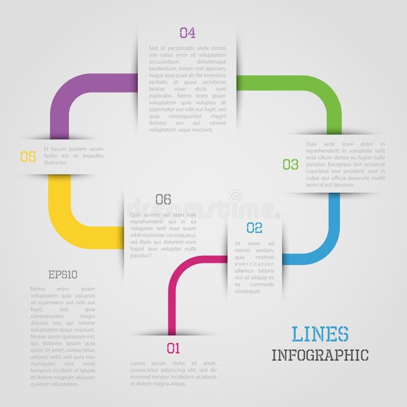 Infographic lijnen royalty-vrije illustratie