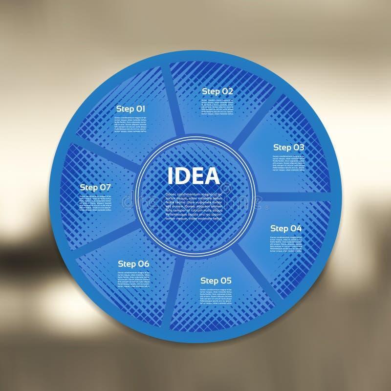 Infographic linéaire de flèches de cercle de vecteur illustration libre de droits