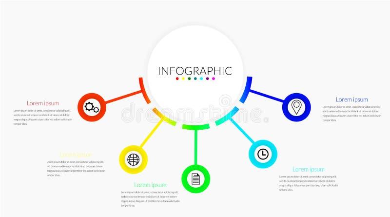 Infographic linia czasu ilustracji