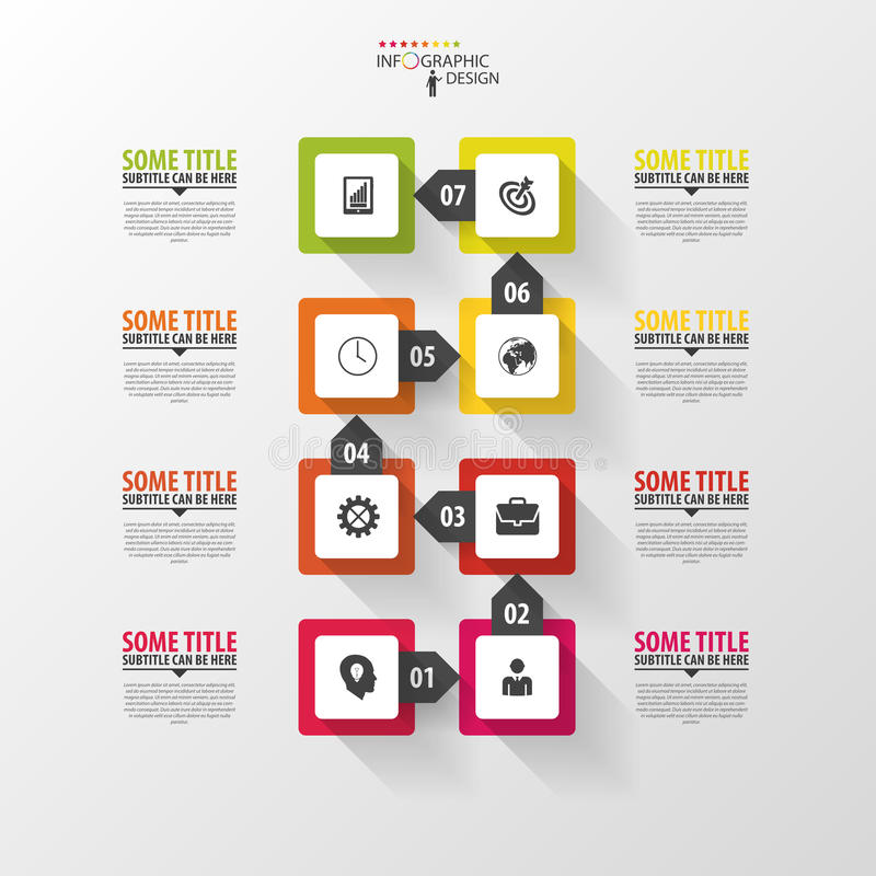 Infographic linia czasu projekta nowożytny szablonu wektor royalty ilustracja