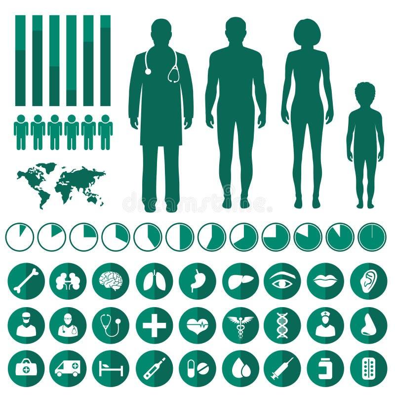 Infographic médical de vecteur illustration libre de droits