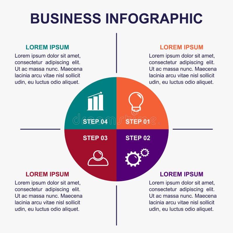 Infographic mall för affär vektor illustrationer