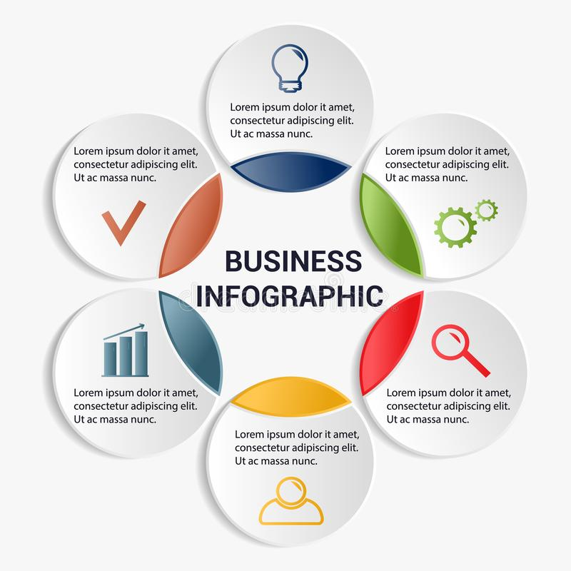 Infographic mall för affär stock illustrationer