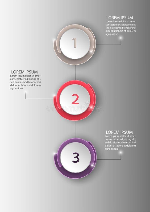 Infographic mall för affärscirkel vektor illustrationer