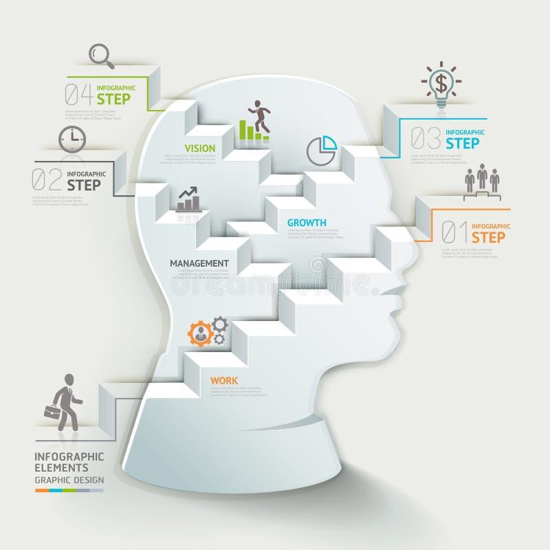Infographic mall för affärsidé Affärsman stock illustrationer