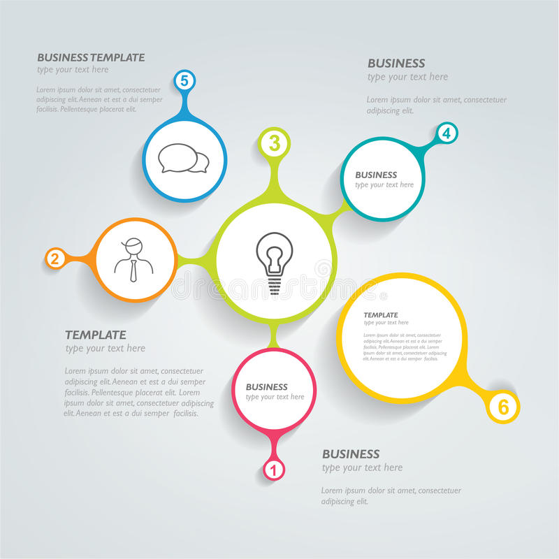 Infographic mall för cirkel vektor illustrationer