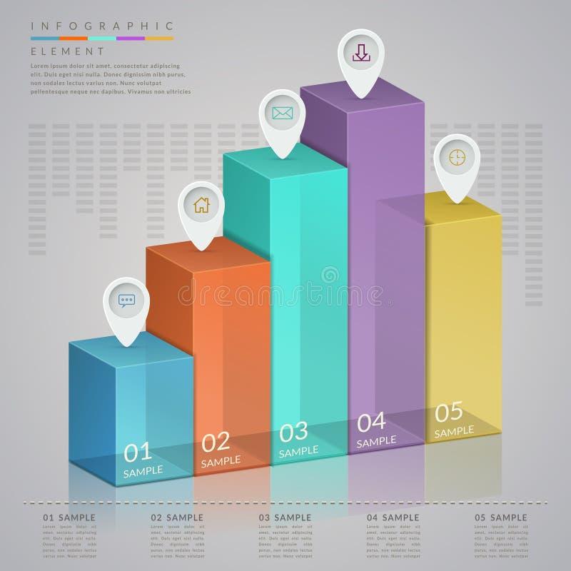 Infographic mall för enkelhet stock illustrationer