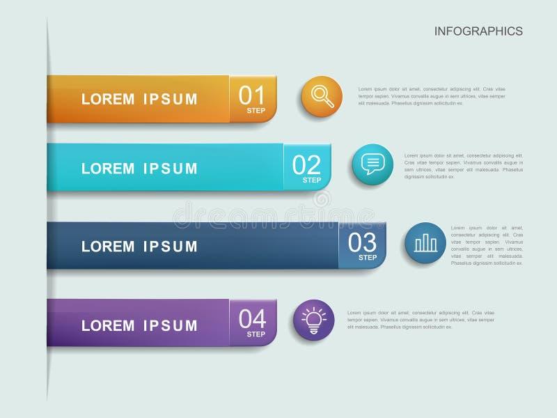 Infographic mall för enkelhet royaltyfri illustrationer