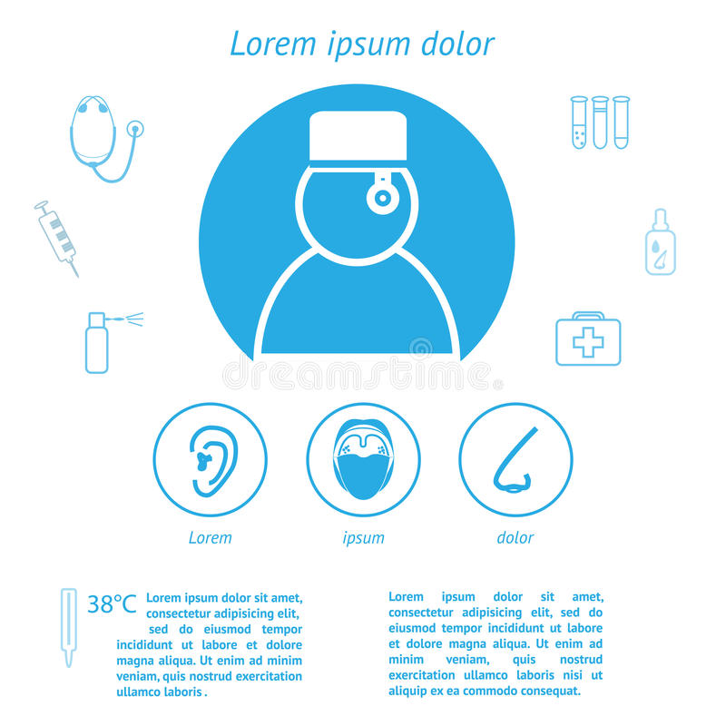 Infographic mall för medicin royaltyfri illustrationer