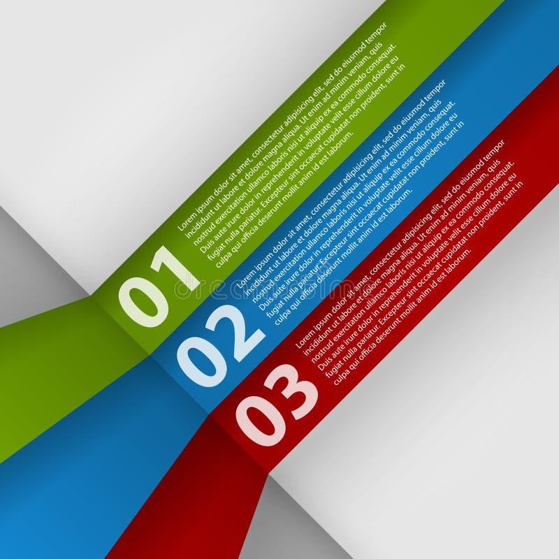 Infographic mall för modern design vektor illustrationer