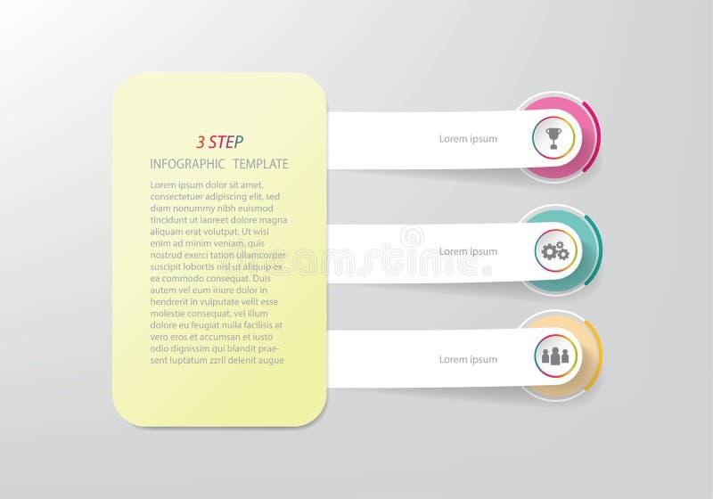 Infographic mall för Timelineaffär med 3 alternativ eller moment vektor illustrationer